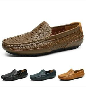 Casuals-Shoes-Men-Loafer-Driving-Loafer-Trail-Slip-On-Hollow-Out-Breathable-New