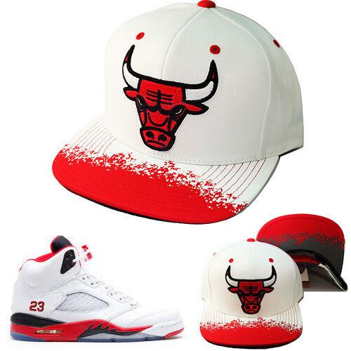 0b6bb28d44f ... reduced mitchell bulls ness nba chicago bulls mitchell snapback hat air  jordan retro 5 fire red