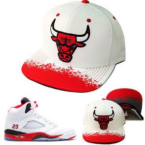 Mitchell   Ness NBA Chicago Bulls Snapback Hat Air Jordan Retro 5 ... ffa2390f8cb5
