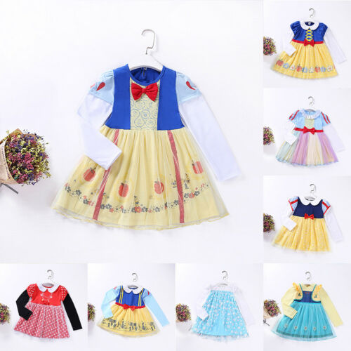 Toddler Baby Girls Snow White Fairy Tale Cosplay Birthday Fancy Dress Costume