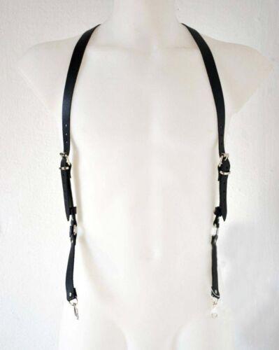 Men BDSM Lingerie Stockings Goth Leather Harness Adjustable Strap Bondage Belts