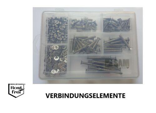 Senkkopfschrauben Sortiment//Set Kreuzschlitz DIN 965 M5 320 Teile EDELSTAHL A2