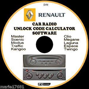 renault autoradio radio codice recupero sblocco decode cd. Black Bedroom Furniture Sets. Home Design Ideas