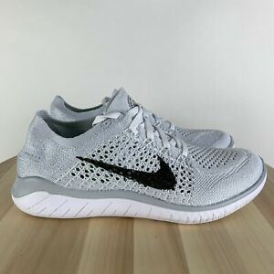 Nike-Free-RN-Flyknit-2018-White-Black-Running-Mens-Shoes-942838-100-SIZE-7-New