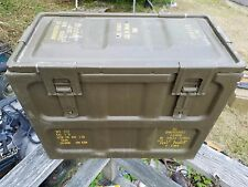 rare old Vietnam dated vintage brown Navy military 30mm ammo can XM140 cannon