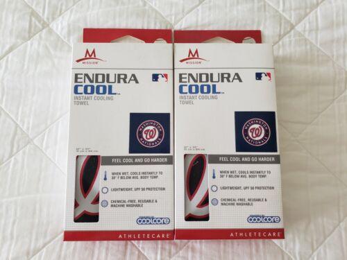 Mission d/'endurance x2 refroidissement serviettes Bleu Washington Nationals NEW IN BOX 12X33