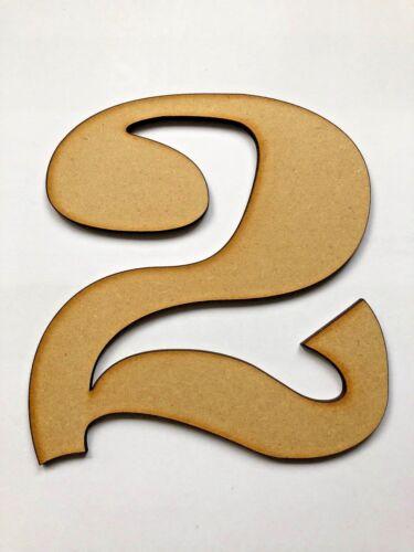 5 cm jusqu/'à 20 cm Ravie de police en bois Craft numéros 0,1,2,3,4,5,6,7,8,9 DECOUPIS