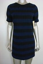 Made for Impulse Women's Petty Coat Alley Blue Black Striped Shift L