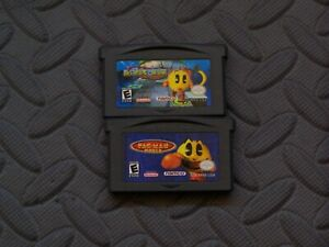 Lot-of-2-Nintendo-Game-Boy-Advance-GBA-Games-Ms-Pac-Man-Maze-Pac-Man-World