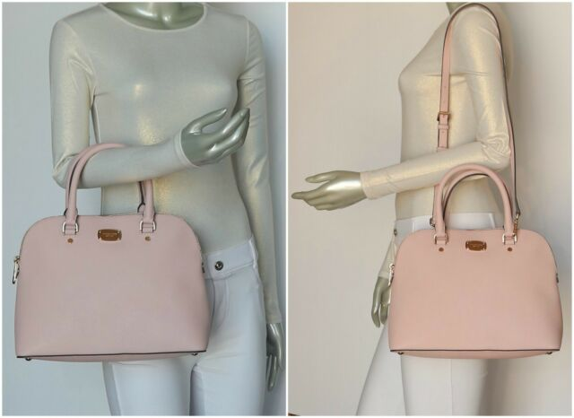 a3a3c6c6b635 Michael Kors Blossom Pink Cindy Dome Crossbody Satchel Saffianol ...