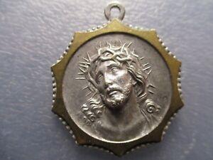Medalla Religiosa Rostro De Jesus Con Corona De Espinas Santa Rita
