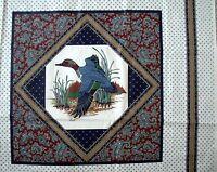 Vip Cranston Wild Duck Print Cotton Fabric Pillow Panels