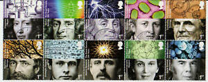 GREAT-BRITAIN-2010-ROYAL-SOCIETY-SET-OF-10-FINE-USED