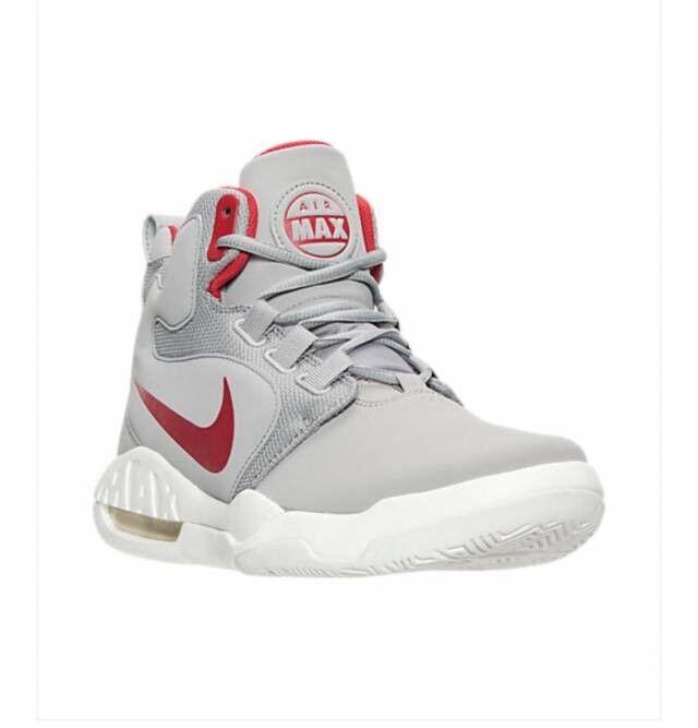 Nike Air Max Conversion Silver Red Basketball Sz 8 Mens shoes 861678-004 NEW