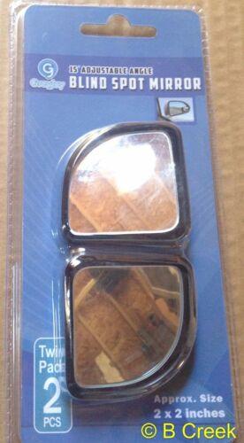 "2/"" x 2/"" Corner Wedge Blind Spot Mirror by GreyJoy 15 Degree Angle Adjustable..."