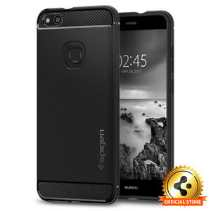 the best attitude b994a 0604e Details about Spigen® Huawei P10 Lite [Rugged Armor] Black Shockproof Slim  TPU Case Cover