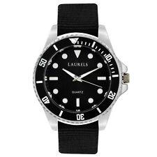 Laurels Cuba Analog Black Dial Men's Watch - Lo-Cub-102