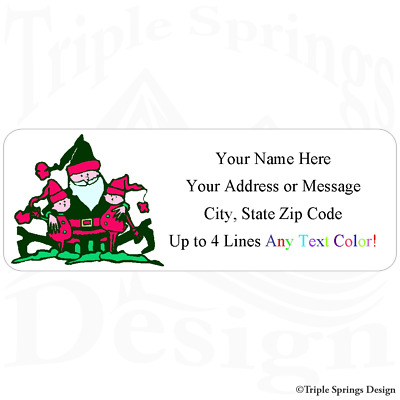 """30 Cartoon Butterfly Personalized Return Mailing Address Labels 1/"""" x 2.625/""""."""