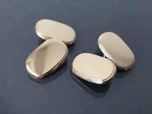 schöne doppelseitige Manschettenknöpfe - Silber 800 vergoldet - zeitlos elegant