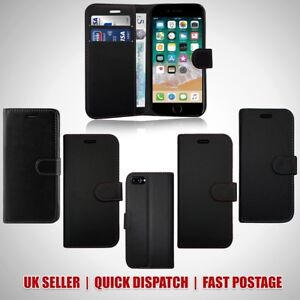 info for 2838f 94383 Details about FOR APPLE IPHONE 7 & 7S CARD SLOT CASE COVER PLAIN BLACK WITH  COLOURED STITCHING