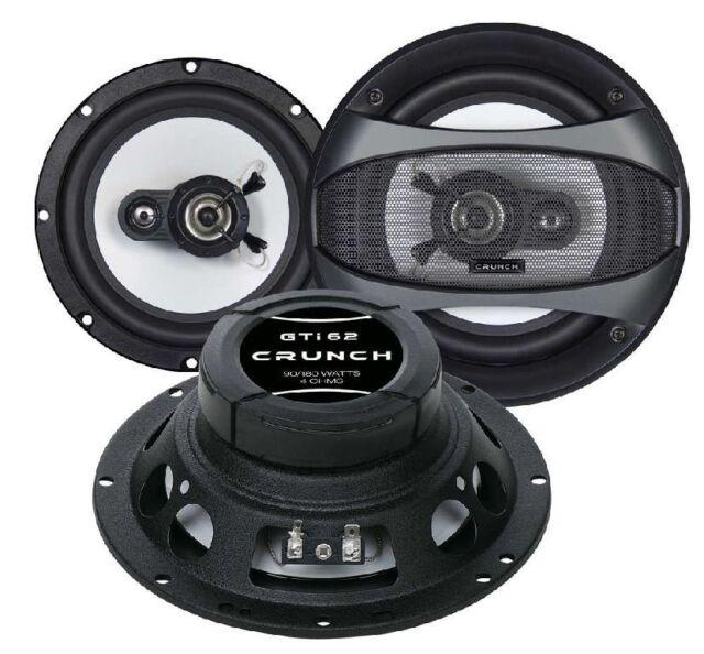 Crunch Gti 62 Speaker 16,5cm Fiat Punto 1/2 176/188 93-07 Doors Front
