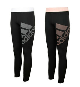 Image is loading Adidas-Women-039-s-Alphaskin-Sport-Logo-Tights- 976b26948c9