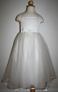 OUR-SMALL-WORLD-Size-4-Ivory-Formal-Dress-FLOWER-GIRL-Special-Occasion-Style-167