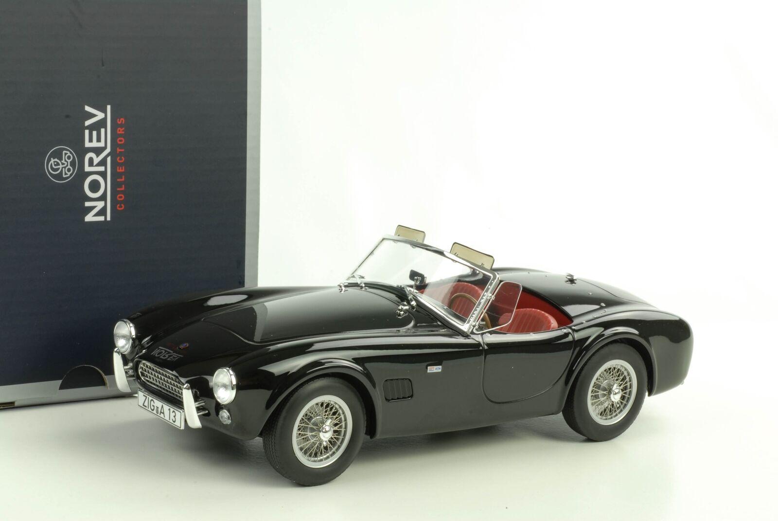 AC Cobra 289 1963 Noir Miniature 1 18 Norev 182754 NEUF