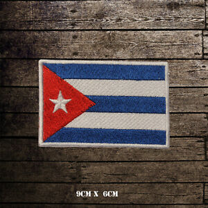 CUBA-Flag-Embroidered-Iron-On-Sew-On-Patch-Badge-For-Clothes-Etc