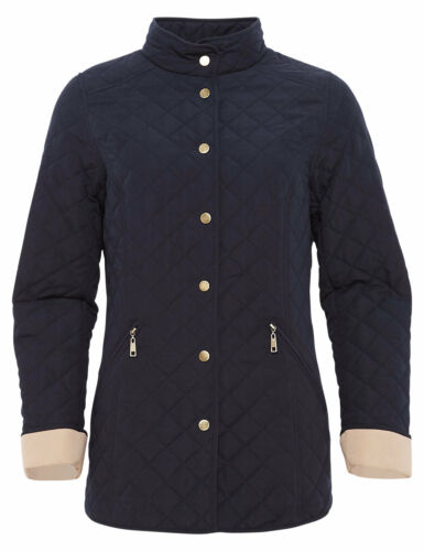 M/&S Classic Ruby Pink Quilted Jacket With Stormwear  UK 10 12 14 16