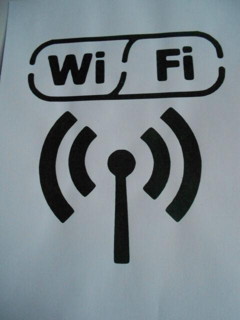 Schablone Wifi auf A4