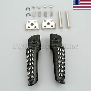 Front Footrests Foot Pegs For Kawasaki ZX-6R 03-13 Z750 Z750S 07-10