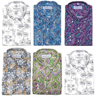 Da Uomo Floreale Paisley Patterned PRINTED Tailored Fit Camicie casual S M L XL 2XL