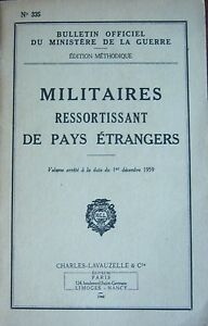 Militaria-Instruction-Military-Ressortissant-of-Country-Aliens-Lavauzelle-1960