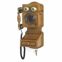 Wall Mount Retro Telephone Kitchen Rotary Phone Vintage Old Fashioned Replica