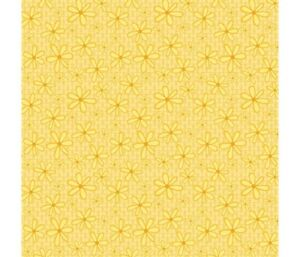 Yellow-Flowers-Floral-Print-Summer-Daisy-100-Cotton-Fabric-Designer-Fun-Pretty