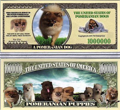 Dog Series Million Dollar Novelty Money The Pug