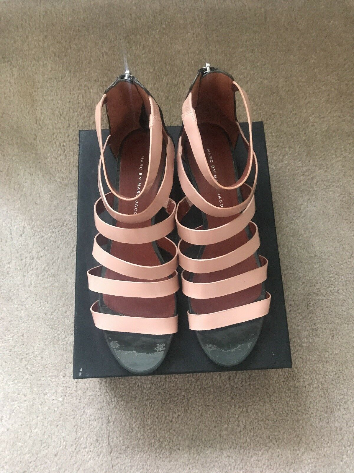 Marc by Marc Jacobs authentic gladiator wedge sandals Sz 10