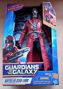 """Guardians Of The Galaxy Battle FX Star Lord 12/"""" Action Figure"""