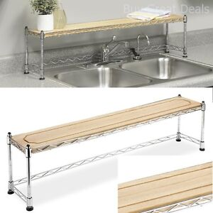 Lovely Image Is Loading Kitchen Shelf Over Sink Rack Stand Steel Storage