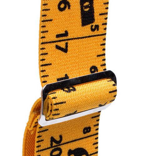 2inch 50mm Men Trousers Pants Braces Heavy Duty Wide Yellow Tape Measurement G6O