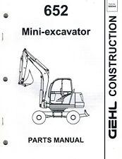 Gehl 652 Mini Excavator Parts Manual New Form 908544