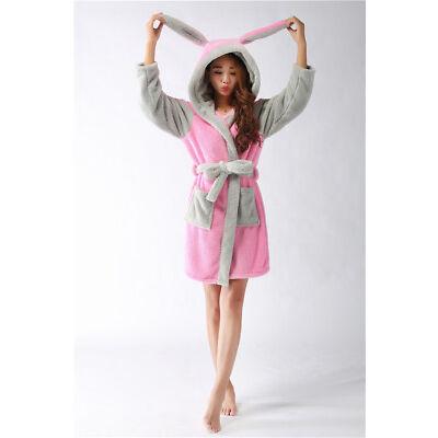 d00fd5ec90 Womens Cute Hooded Stitch Sleepwear Bathrobe Pajama Plush Animal Nightwear  Warm