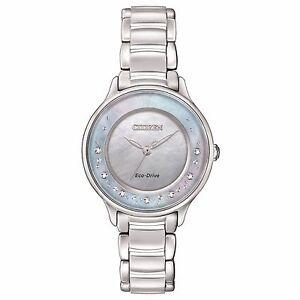 Citizen Eco-Drive Women's EM0380-81N Refurbished Circle of Time Diamonds Watch