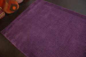 Modern-Teppich-Handtufted-aus-Wolle-Lila-ca-160-x-123-cm-Neu