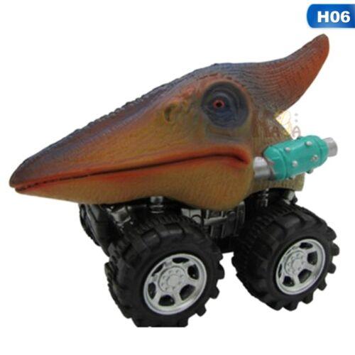 1X Dinosaur Model Car Toys Pull Back Car Baby Kids Children Boys Christmas Gifts