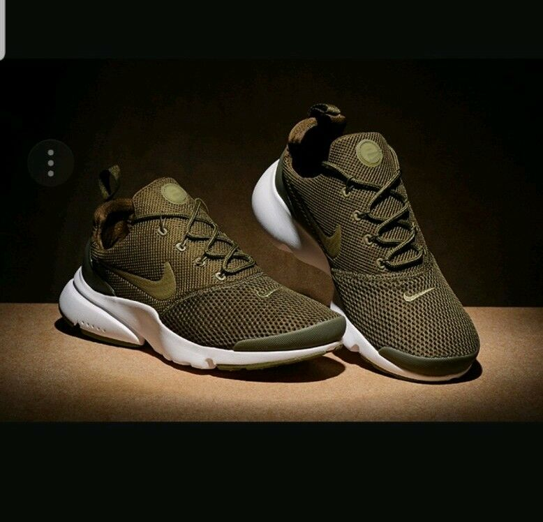 hommes Nike PRESTO FLY 908019 2018 Gym Chaussures Trainers Medium Olive Taille7