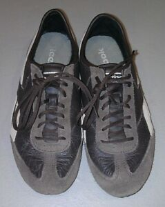 Reebok Casual Lace-Up Soft-Body Shoes Used Women's US 5.5 EUR 35.5 Brown NR!