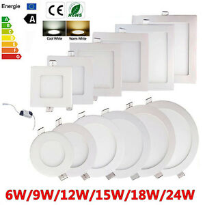 10X-6W-24W-Dimmable-Epistar-Recessed-LED-Panel-Light-Ceiling-Down-Lights-Lamp-MX