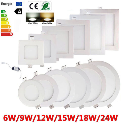 Dimmable 6W 9W 12W 15W 18W LED Recessed Ceiling Panel Down Lights Bulb Fixture B